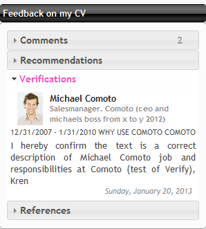 Comoto Verification